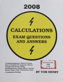 Tom henrys electrical books and study guides 105 2008 calculations exam questions answers free online quiz fandeluxe Images