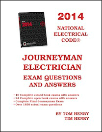 Tom henrys electrical books and study guides 2014 journeyman exam question and answer book fandeluxe Gallery