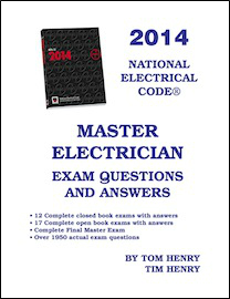 Tom henrys electrical books and study guides 2014 master exam question and answer book fandeluxe Gallery