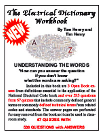 Electrical dictionary workbook