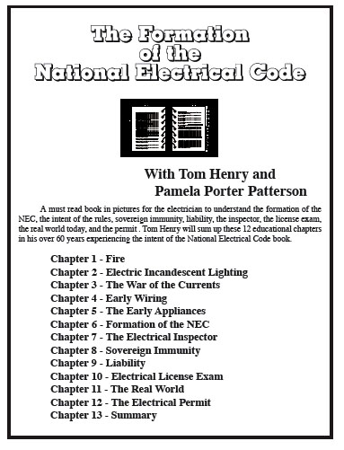 Formation of the National Electrical Code on