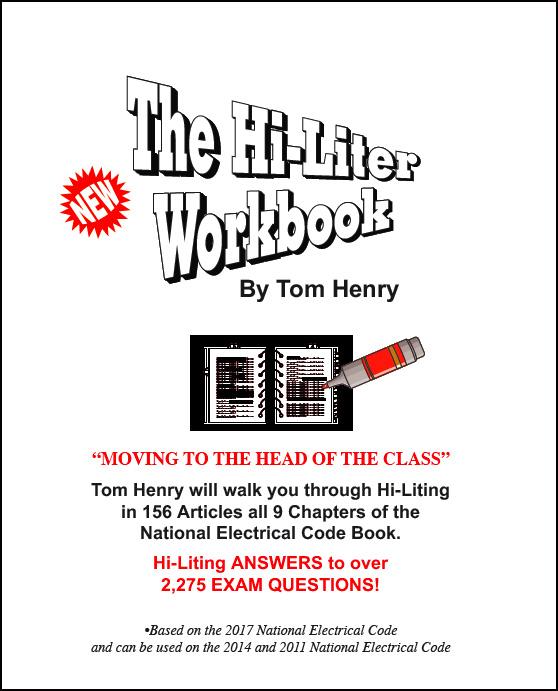 tom henry\u0027s electrical books and study guides1014 hi liter workbook
